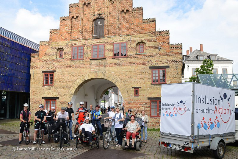 Start der 2. Etappe in Flensburg